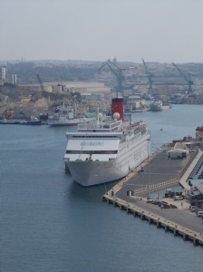 Peace Boat at Valetta, Malta