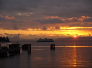 Sunrise Bainbridge Ferry