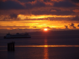 Sunrise with Ferry