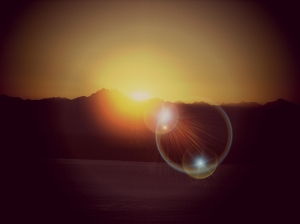 sunset on Olympic cascades